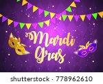mardi gras brochure template... | Shutterstock .eps vector #778962610