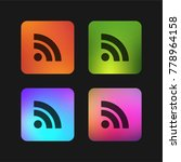 rss feed symbol four color... | Shutterstock .eps vector #778964158