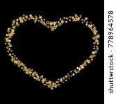 doodle golden stars in the... | Shutterstock .eps vector #778964578