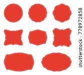 red blank round label. labels... | Shutterstock . vector #778972858