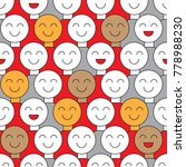 banner fools day. smiling crowd.... | Shutterstock .eps vector #778988230