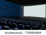 cinema auditorium with blue... | Shutterstock .eps vector #778989889