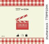 clapperboard symbol icon   Shutterstock .eps vector #778991044