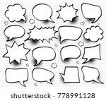a set of comic speech bubbles... | Shutterstock .eps vector #778991128