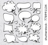 a set of comic speech bubbles... | Shutterstock .eps vector #778991134