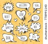 a set of comic speech bubbles...   Shutterstock .eps vector #778991140