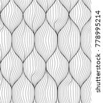 creative seamless linear wave... | Shutterstock .eps vector #778995214