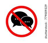 no talking sign. symbol ... | Shutterstock .eps vector #779009329