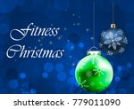 merry fitness christmas and... | Shutterstock . vector #779011090