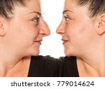 comparison of the female nose... | Shutterstock . vector #779014624