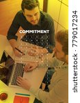 Small photo of COMMITMENT WORD CLOUD CONCEPT