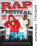 rap music festival announcement ... | Shutterstock .eps vector #779018449