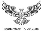 an eagle angry animal sports... | Shutterstock .eps vector #779019388