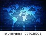 2d illustration technology... | Shutterstock . vector #779025076