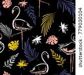 beautiful hand drawing contrast ... | Shutterstock .eps vector #779030104