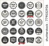 retro vintage design quality... | Shutterstock .eps vector #779032936