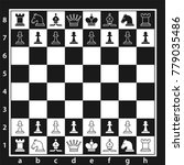 black and white chess board... | Shutterstock .eps vector #779035486