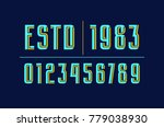 decorative numbers with...   Shutterstock .eps vector #779038930