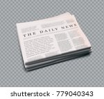 vector realistic newspaper with ... | Shutterstock .eps vector #779040343