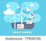 smart alternative energy... | Shutterstock .eps vector #779040730