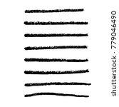 brush stroke set. texture. | Shutterstock .eps vector #779046490