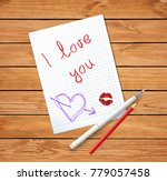 love letter on valentine's day. ... | Shutterstock .eps vector #779057458