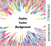 festive colorful abstract... | Shutterstock .eps vector #779058610