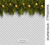 border with christmas tree... | Shutterstock .eps vector #779060446