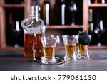glassware of alcohol with... | Shutterstock . vector #779061130