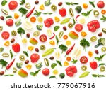 the concept of healthy eating.... | Shutterstock . vector #779067916