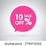10  offer label sticker  sale... | Shutterstock .eps vector #779071033