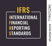 ifrs or international financial ... | Shutterstock .eps vector #779072290