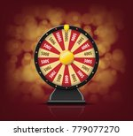 black fortune wheel with on... | Shutterstock .eps vector #779077270