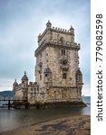 the belem tower in lisbon ... | Shutterstock . vector #779082598