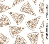 pizza pattern. vector seamless...   Shutterstock .eps vector #779088250