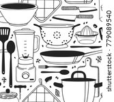 hand drawn illustration cooking ... | Shutterstock .eps vector #779089540