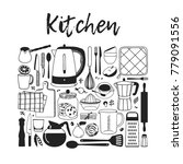 hand drawn illustration cooking ... | Shutterstock .eps vector #779091556