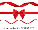christmas decoration of red... | Shutterstock . vector #779092870