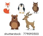 winter animals vector... | Shutterstock .eps vector #779093503