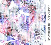 floral pattern hand made...   Shutterstock . vector #779095444