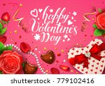 happy valentines day card with... | Shutterstock .eps vector #779102416