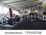 modern gym room fitness center... | Shutterstock . vector #779102758