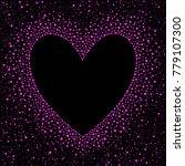 heart shape dot frame with... | Shutterstock .eps vector #779107300