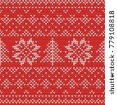 christmas knitting seamless...   Shutterstock .eps vector #779108818