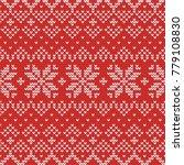 christmas knitting seamless...   Shutterstock .eps vector #779108830