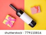 bottle on geometric background  ... | Shutterstock . vector #779110816