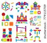 kids building blocks toy vector ...   Shutterstock .eps vector #779115709