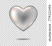 silver realistic heart ... | Shutterstock .eps vector #779121454
