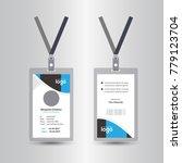 creative simple blue   black id ... | Shutterstock .eps vector #779123704