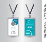 creative simple id card design... | Shutterstock .eps vector #779123746